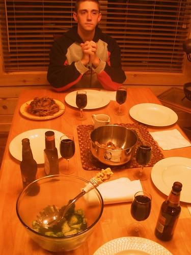 bryan gives thanks for brisket