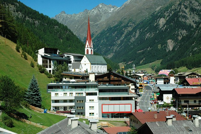 View from Bergland hotel, Soelden, Austria