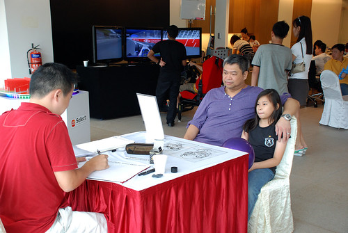 Caricature live sketching for Sime Darby Select Open House Day 1 - z4
