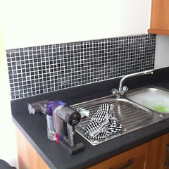 Our tiling effort in the kitchen
