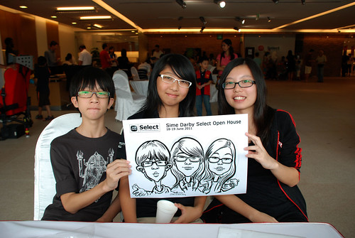 Caricature live sketching for Sime Darby Select Open House Day 2 - 22