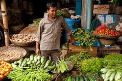 Vegetable Vendor at Srimongal Market - Bangladesh (uncorneredmarket) Tags: people man vegetables market greens vendor veggies okra bangladesh freshmarket foodmarket srimongal sylhetdivision sreemangal