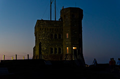Cabot Tower at Night (Tk_White) Tags: sunset summer sky canada tower skyline night 35mm newfoundland prime nikon stjohns cabot signalhill d7000