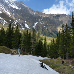 Ice sliding during our adventure filled hiking in the Hohe Tauern (Bn) Tags: park blue shadow wild sky sun snow mountains alps green ice nature water walking landscape geotagged heidi austria golden spring woods rocks afternoon eagle farmers hiking farm wildlife meadows falls adventure evergreen alpine national valley goldenvalley gras rays peaks lush sliding spar spruce larvae finest seekers birdofprey marmots hohe rauris lariks naturfreundehaus primeval unspoilt tauern kolmsaigurn hohersonnblick rauristal bartgeier beardedvulture 1650m naturfreundeweg bucheben 3106m dastaldergeier thekingsoftheair highsonnblick kolmsaigum geo:lon=12983450 geo:lat=47074316 ritterkar