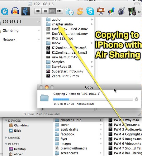 Copy to iPhone with Air Sharing