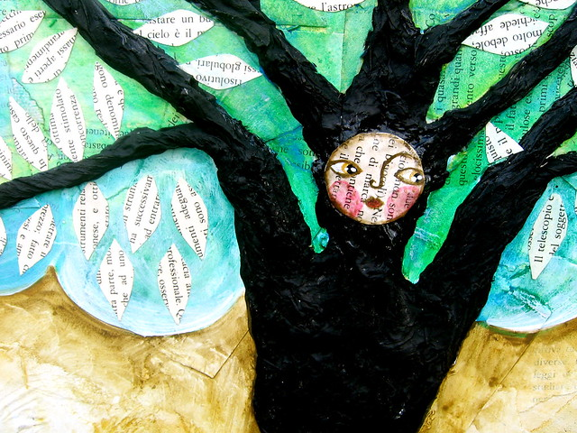 Rebirth n.1 - the woman in the tree, detail