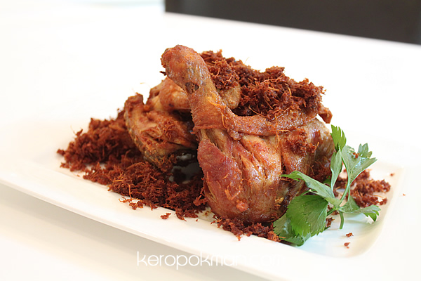 Ayam Goreng Garuda - Fried Chicken with Blue Ginger Floss