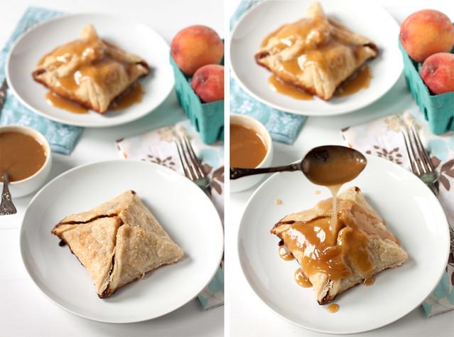 Peach Dumplings with Vanilla Cream Sauce