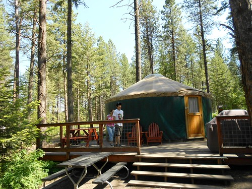 Yurt in Winchester lake State Park, ID