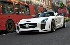 FABulous (tWm.) Tags: uk fab white london car mercedes benz design nikon stream body thomas gull wide super mein arabic arab modified nikkor supercar f4 v8 sls amg qatar widebody 24120 qatari gullstream d7000