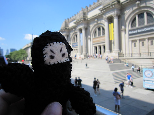 Ninja outside the Metropolitan Museum of Art