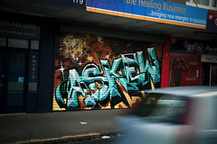 ASKEW | Bringing new energies to rollerdoors - New Zealand. (Ironlak) Tags: graffiti askew ironlak askewone ironlaknewzealand askewgraffiti askewtmd rollerdoorgraffiti