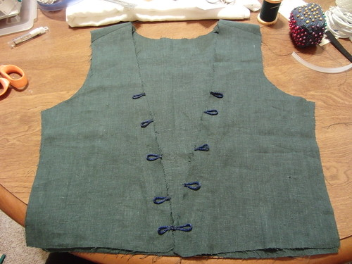 Flemish Overgown Bodice Piece With Loops Tacked On