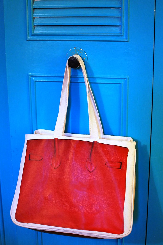 thursday friday red birkin bag back view