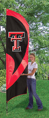 Texas Tech Tall Feather Flag