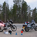 Africa Twin. Supper on the road to Murmansk