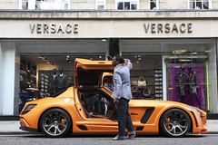 FAB desing SLS (Ferdi Photography) Tags: uk fab orange london mercedes benz cool nice den fast van ferdi matte sls amg desing heuvel worldcars