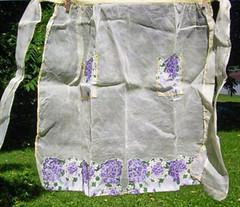 Vintage Lilac Hankies Apron