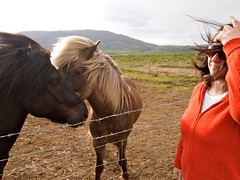 michelle and ponies (Makkyd123) Tags: sea landscape waterfall iceland glacier