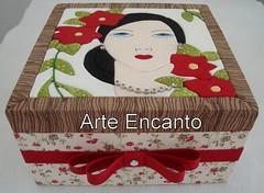 Caixa Dama (ARTE ENCANTO - III) Tags: caixa patchwork embutido cartom mousse incrusté biju bijouteria tecido porta bijuteria