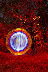 All I see is Red (Sumerian~Lights) Tags: orb lightart lapp outatnight lightpanting