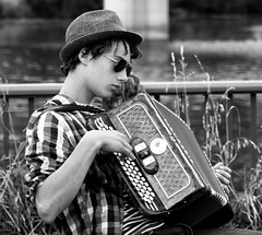 Cool as (gazasal) Tags: france cool dude le accordian puy veque gazasal