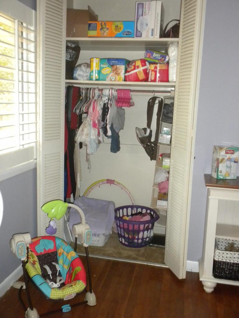Baby girl's closet