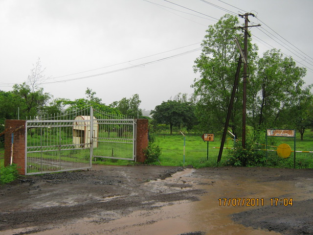 Gate of Shubham Nagari Bungalow Plots on the way to Mont Vert Vesta Urawade Pirangut Pune 412 108