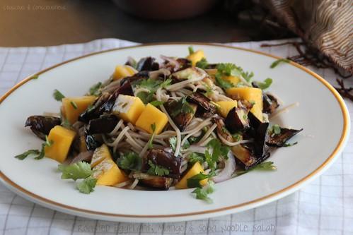 Roasted Eggplant, Mango & Soba Noodle Salad 1