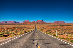 Straight ahead (cyberdan) Tags: usa utah highway desert roadtrip redrocks milemarker13