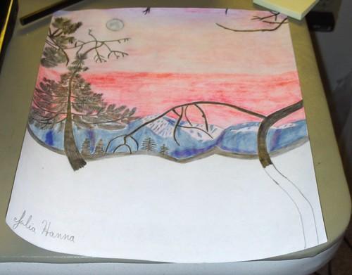 Forest Sunset Sketch: Part 8