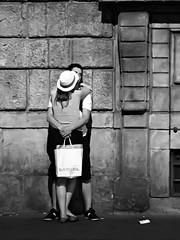 DIESEL - Tenerezze 2 - Tenderness 2 (Andrea Bosio Photographer) Tags: street city portrait people urban blackandwhite bw italy canon photography eos blackwhite strada italia gente diesel noiretblanc streetphotography bn persone tuscany streetphoto toscana ritratto bianconero tenderness biancoenero coppia abbraccio g12 thedecisivemoment tenerezze streeportraits andreabosio iphotographitalian canonpowershotg12