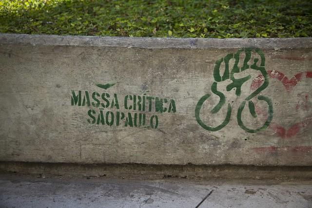 Sao Paolo Placa Cyclistas