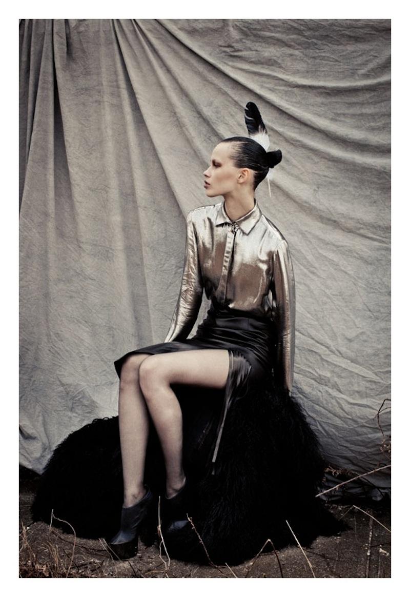 leather skirt fringes