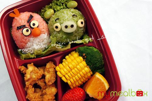 Angry Birds onigiri bento set 1