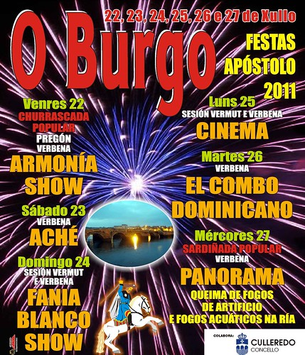 Culleredo 2011 - Festas do Burgo - cartel