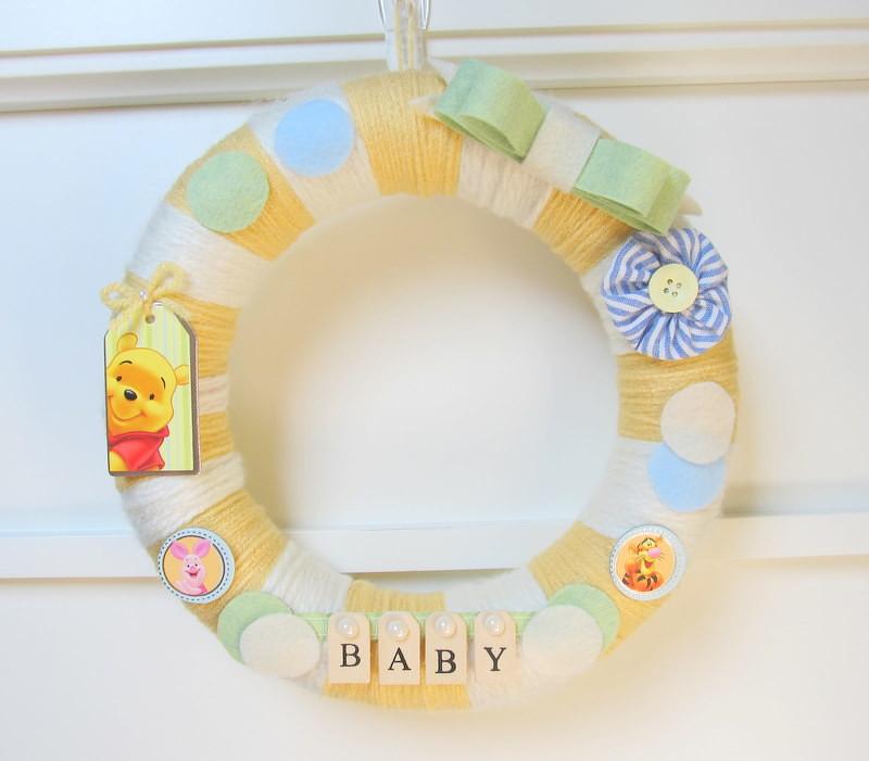 Yarn Wreath Custom Nursery Decor