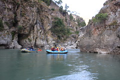Last gorge on the Tamur  Adventure rafting and Kayaking river