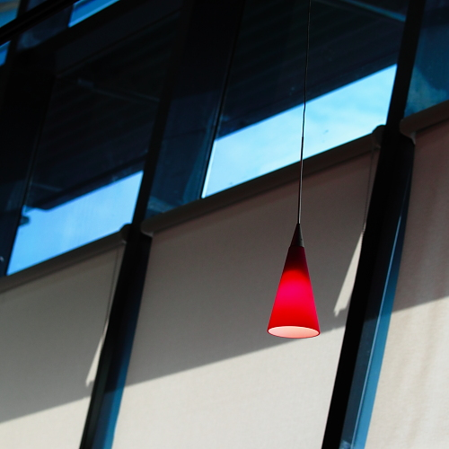 triangle red lamp