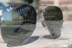 Colosseum reflected in Ray-Ban