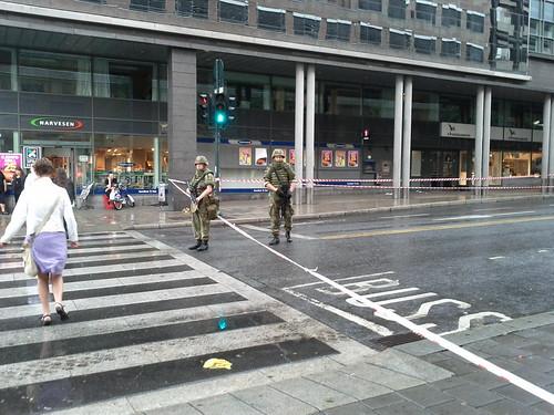 Oslo Terror 2011: Royal Guard in downtown Oslo