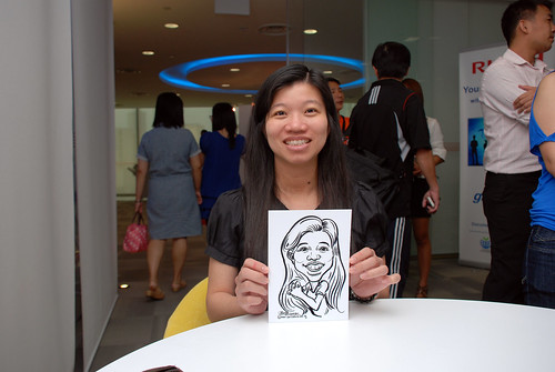 Caricature live sketching for Ricoh Roadshow - 20