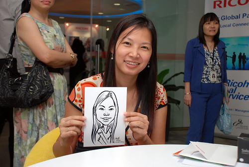 Caricature live sketching for Ricoh Roadshow - 29