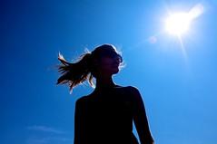 Le Grand Bleu (spoedman) Tags: sun france beach sunshine daylight playa flare provence plage tegenlicht frejus x100 beachphotography spoedman christophelaurent katrijnvandevijver katrijnvdv fujifilmx100 fujix100