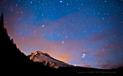 Mount Hood Celestial Nights (Darren White Photography) Tags: nightphotography nature night clouds oregon canon stars 50mm pacificnorthwest mounthood cascademountains brightnights darrenwhite thenightsky oregonmountains darrenwhitephotography 5dmkii oregonnights landscapesofthenorthwest northwestnights mounthoodlandscapes