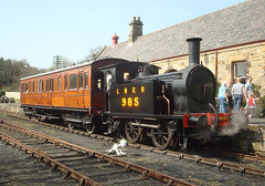 LNER Y7 No.985 (Beamish Museum) Tags: station train vintage rally transport engine fair steam vehicles pj enthusiast rowley countydurham lner beamishmuseum y7 powerfromthepast plannedexhibits no985