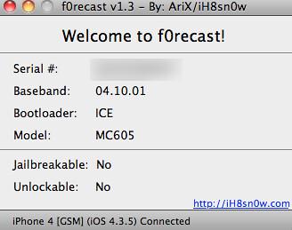 iOS 4.3.5 f0recast