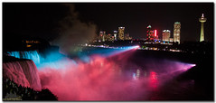 Niagara Falls @ Night (Amir Nejad) Tags: blue red usa canada fall water night canon river niagarafalls waterfall buffallo supershot abigfave flickrdiamond removedfromstrobistpool t1i nooffcameraflash seerule1