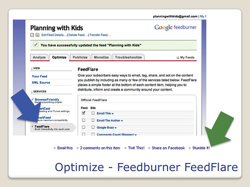 Blogging Tools - Feedburner FeedFlare