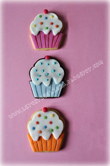 Biscotti decorati: Dolci cupcake